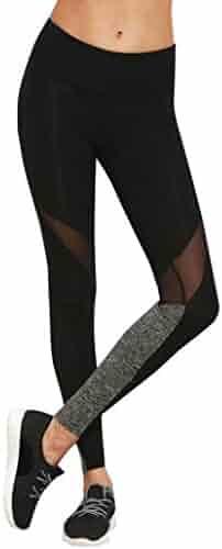 abc2196e389a2 Hot Sale Pants! Auwer Tight Mesh Panels Yoga Pants Stretchy Women's  Leggings Gym Fitness Workout