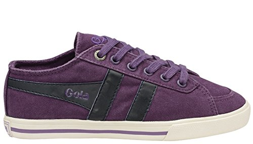 - Gola Kids Quota Canvas Fashion Sneakers (2, Purple/Navy)