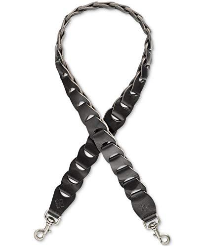 Patricia Nash Womens Bella Vista Leather Chain-Link Shoulder Strap Black O/S (Link Leather Shoulder Chain Black Bag)