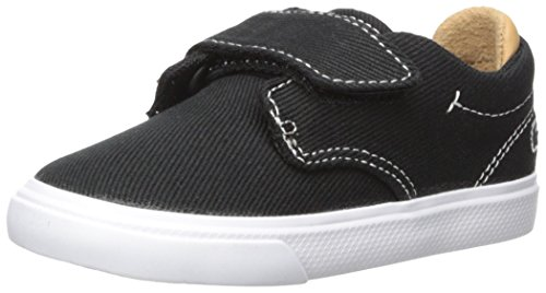 Lacoste Mens Hook - Lacoste Baby Esparre Sneaker, Black Canvas, 5. M US Infant