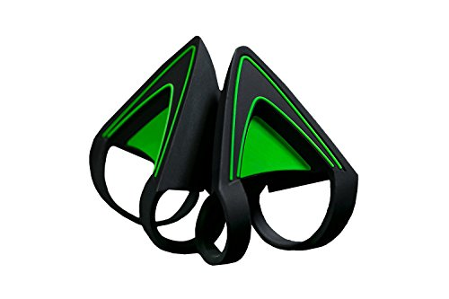 Razer Kitty Ears - [Green Edition]: Attachable Accessory for Kraken Headsets - Adjustable Straps, Waterproof Construction ()
