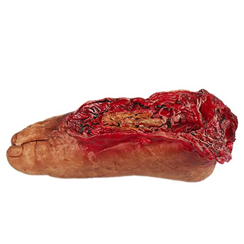 Balai Halloween Scary Decorations Fake Dead Bloody Body Parts Props -Fake Human Severed Foot Hand & Fingers Halloween Trick or Treat Party Prop Decoration - Haunted House Halloween Decorations -