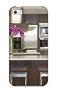 High Grade AndreaPope Flexible Tpu Case For Iphone 5c - Modern Kitchen With Stainless Appliances Amp Floating Staircase With Cable Railing wangjiang maoyi