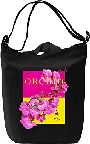 Orchid Borsa Giornaliera Canvas Canvas Day Bag| 100% Premium Cotton Canvas| DTG Printing|