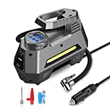 joyroom Portable Air Compressor Tire Inflator CZK-3631, Car Tire Pump with Digital Pressure Gauge (150 PSI 12V DC), Bright Emergency Flashlight - for Auto, Trucks, Bicycles, Balls