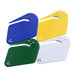 Gracallet 4 Pcs Assorted Color World\'s Most Efficient Handheld Letter Opener Envelope Slitter with Concealed Blade (4 pcs assorted color)