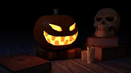 Gifts Delight Laminated 42x24 inches Poster: Pumpkin Halloween Skull Scary -