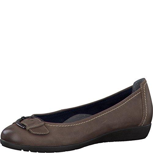 Tamaris - Bailarinas de Piel para mujer Marrón - marrón