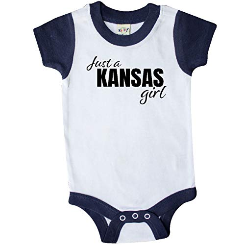 inktastic - Just a Kansas Girl Born Infant Creeper 6 Months White and Navy -