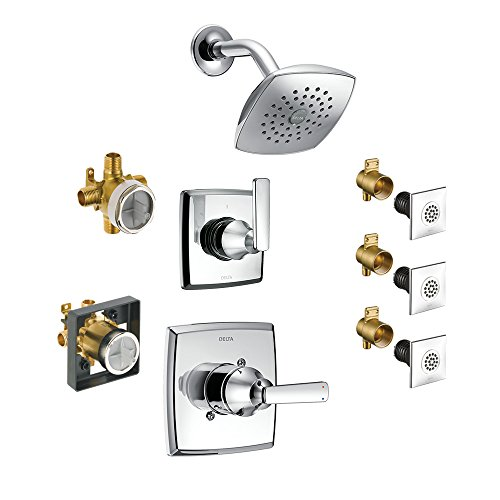Chrome Delta KS17264-DRH55-CH Ashlyn Monitor Shower Kit with 2-Port Diverter and Wall-Mount Hand Shower