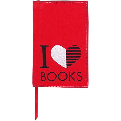moses. Verlag 81968 libri_x - Custodia protettiva per libro, motivo decorativo:I love Books, taglia L moses. Verlag GmbH