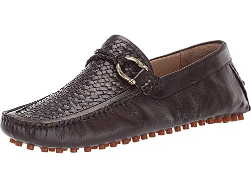 - Carlos by Carlos Santana Men's Malone Driver Loafer Coffee Interweave Calfskin Leather 9 D US
