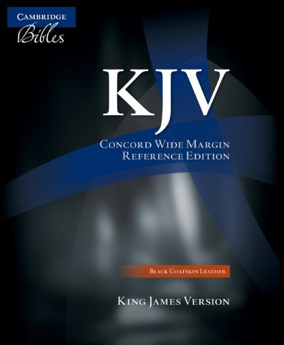 KJV Concord Wide Margin Reference Bible, Black Edge-Lined Goatskin Leather KJ766:XME - Mall Concord De