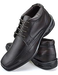 Sapato Social Conforto Masculino de Cano Alto com Cadarço