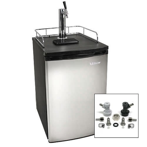 EdgeStar Ultra Low Temperature Full Size Kegerator with Stainless Steel Door w/ Home Brew Tap