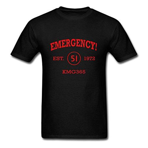 Spreadshirt Emergency Athletic Vintage Firefighting Men's T-Shirt, 4XL, Black