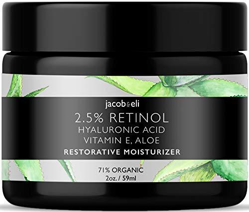 Rich Retinol Cream - Top Influencer - Organic & Vegan - Luxury Quality Moisturizer for Face & Eye Packed with Organic Retinol, Vitamin E, Jojoba Oil, Hyaluronic Acid, Shea Butter, Organic Aloe & More.
