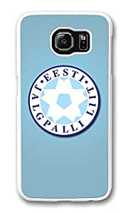 Galaxy S6 Case, S6 Cases, Custom Estonia Football Logo Galaxy S6 Bumper Case [Scratch Resistant] [Shock-Absorbing] Hard Plastic White Protective Cover Cases for New Samsung Galaxy S6