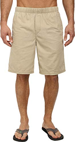 Pleated Walking Shorts - Quiksilver Waterman Men's Cabo Walk Short, Pebble, Small