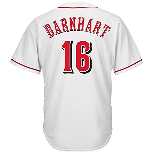 Men's/Women/Youth_Cincinnati_#16_Tucker_Barnhart_White_Alternate_Cool_Base_Player_Jersey