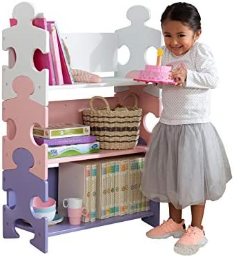 KidKraft Wooden Puzzle Piece Bookcase