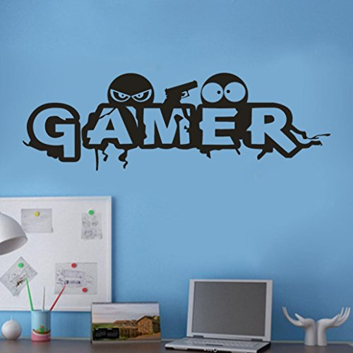 Landfox Wall Stickers, Stylish Removable 3D Gamer Removable
