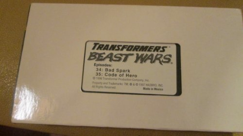 - Transformers Beast Wars Episodes 34-Bad Spark and 35-Code of Hero VHS Video Tape Promo