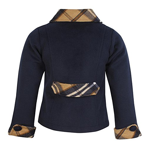 f75b50575bda Cutecumber Girls Coat Fabric Embellished Navy Coat. 2292A-NAVY-22 ...