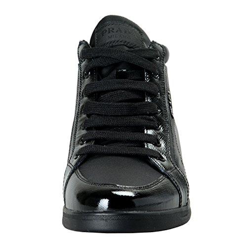 Canvas Us Dames Prada Sz Mode Schoenen Zwart Hallo Sneakers Leer Top 1E4pvqP