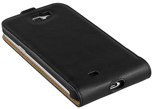 mumbi PREMIUM Leder Flip Case für Samsung Galaxy Note 2 Tasche schwarz B3k7Q0fW