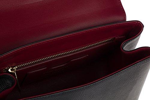 cuir noir amp; femme lucia main en Gabbana sac à Dolce A6qSw