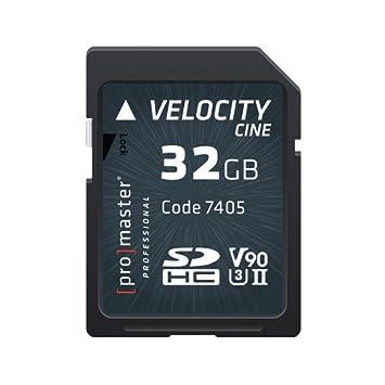 Amazon.com: Promaster SDHC 32GB Velocity CINE V90 UHS-II U3 ...