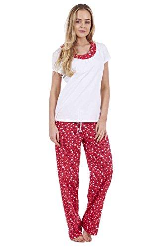 Ex Famous Store - Pijama - para mujer Red Mix