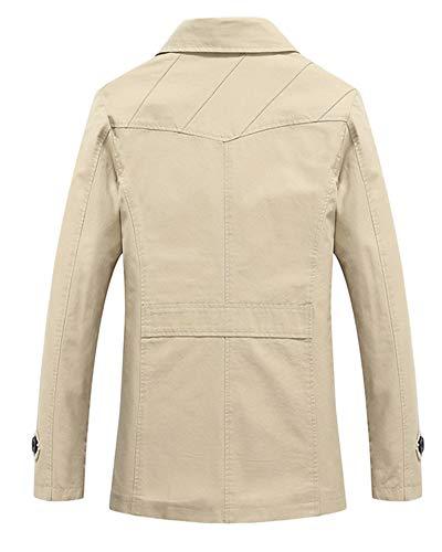 Vintage Uomo Harrington Giacca Sottile Beige Lavoro Jacket Classico Retro Casuale Da Jackets B8qSwBr