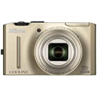 Nikon Coolpix S8100 12.1 MP CMOS Digital Camera with 10x Zoom-Nikkor ED Lens and 3.0-Inch LCD (Gold) Benefits Review Image