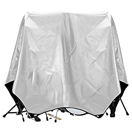 Drum Set Cover(80″x 108″), PVC Coating Drum Cover, Drum Accessories, Electric Drum Kit Cover with Sewn-in Weighted Corners, Drum Sets Accessories