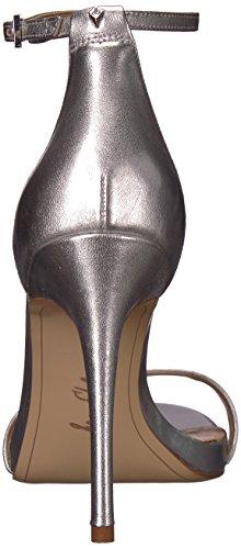 Sam Soft Heeled Leather Metallic Silver Sandal Women's Ariella Edelman HXq7UwvrH