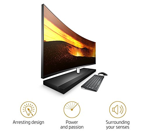 Latest 2017 HP ENVY 34 CURVED Desktop 5TB SSD 32GB RAM EXTREME (Intel Core i7-7700T processor TURBO to 3.80GHz, 32 GB RAM, 5 TB SSD, 34