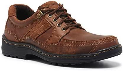 Hush Puppies Men's ALBATROSS shoes, Brown, 8 AU
