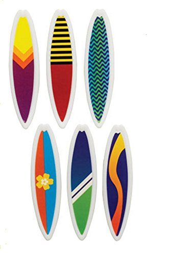 t Surfboards Cake and Cupcake Toppers, Assorted (Tropical Surfboard)