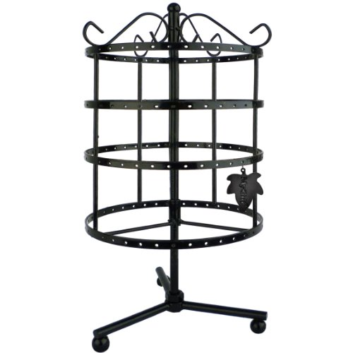 MyGift® 4 Tiers Black Rotating Display Stand