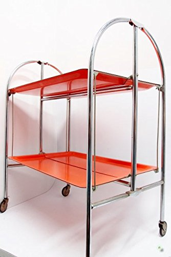 Dinett Arancione - Carrello portavivande Vintage tavolino tavolo ...