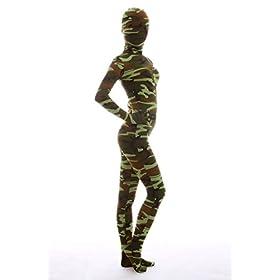 - 41DGHqRX2DL - Halloween Dress Up Lycra Spandex Zentai Costume Full Printed Camouflage Cosplay Bodysuit