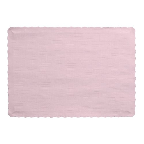Creative Converting 863274B Paper Placemats, Classic Pink