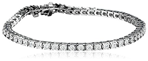 IGI Certified 18k White Gold 4-Prong Diamond Tennis Bracelet (3.0 cttw, H-I Color, SI1-SI2 Clarity), 7