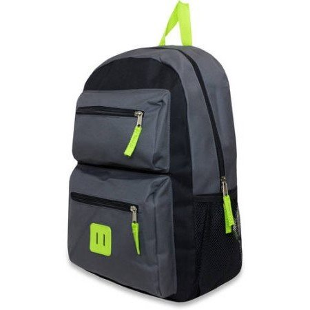 [School Backpacks. This Cute Rucksack, Knapsack, Haversack Bags Suitable For Kids & Teens, Boys & Girls. Best For Carry On, Books & All School & Study Supplies. 18 Inch Double Pocket. Gray Color] (Baseball Throwing Fundamentals)