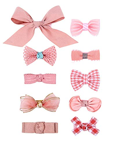 Baby Girls Hair Bow Clips, Ribbon Lined Alligator Hair Clips, Barrettes, Hairpins, Infant, Toddlers Hair Accessories