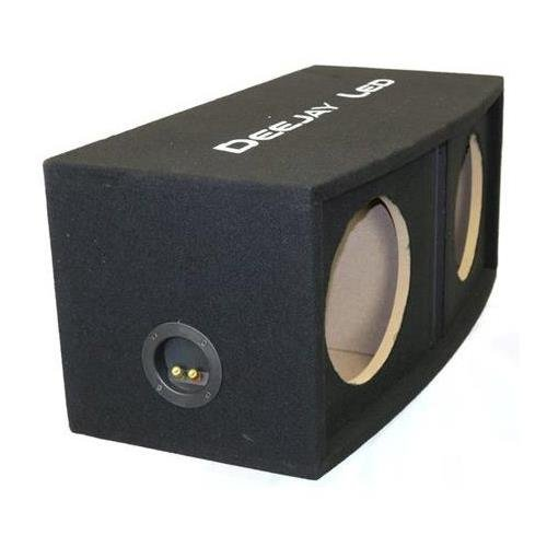 Deejay LED 10'' Double Center Port Vented Round Empty Car Bass Speaker Box