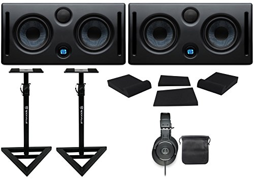2 Presonus ERIS E66 145w Active Dual 6.5'' Studio Monitors+Headphones+Stands+Pads by PreSonus
