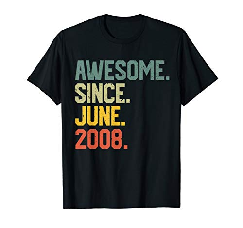 Awesome since June 2008 T-Shirt Vintage 11th Birthday gift]()